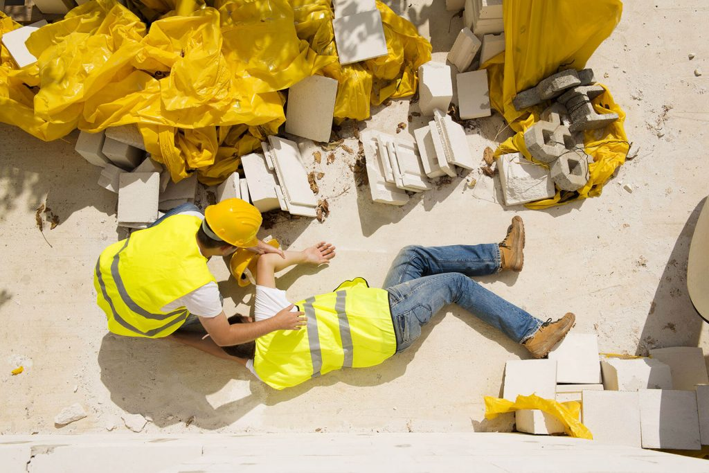 Construction accidents - Injured construction worker