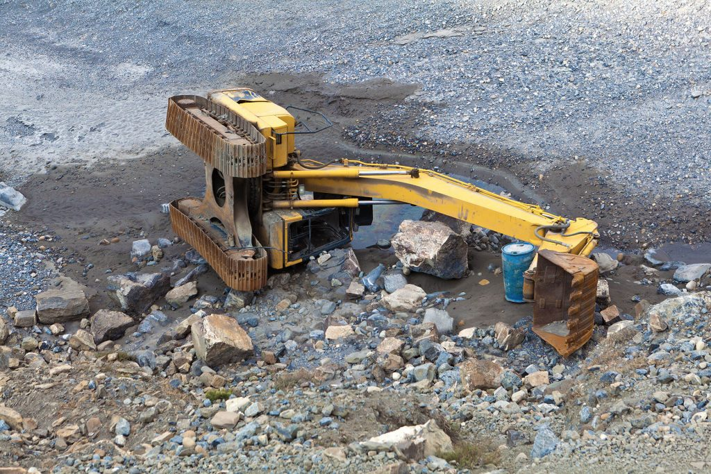 Construction machinery accident